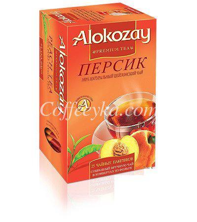 Чай черный Alokozay персик 25 ф/п