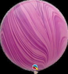 Шар 30/75см Супер Агат Pink Violet сиреневый розовый Qualatex
