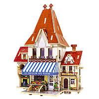 Деревянный 3D конструктор Цветочный магазин. Франция (F126)