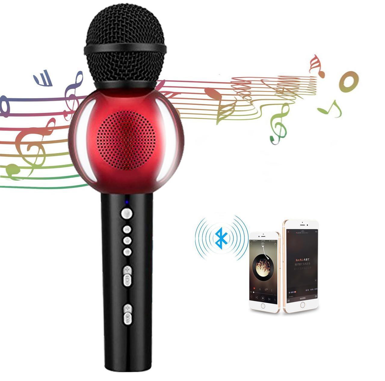 Беспроводной Bluetooth караоке микрофон AT MOUSE PC Smart TV