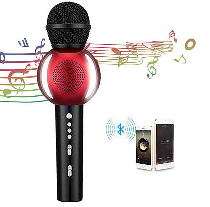 Беспроводной Bluetooth караоке микрофон AT MOUSE PC Smart TV, фото 2