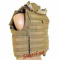 Жилет разгрузочный под бронеплиты Flyye MOLLE MTV Vest CB (М/ р.48-50)  FY-VT-M018-CB