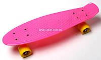 FISH Скейт Скейтборд ORIGINAL 22 PENNY Малиновый, Колеса желтые