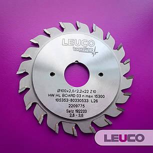 """Двухкорпусные подрезные дисковые пилы Leuco с регулировочными кольцами, 100х2,8-3,6х2,2х22 z=10+10, """"ES"""" зуб, фото 2"""