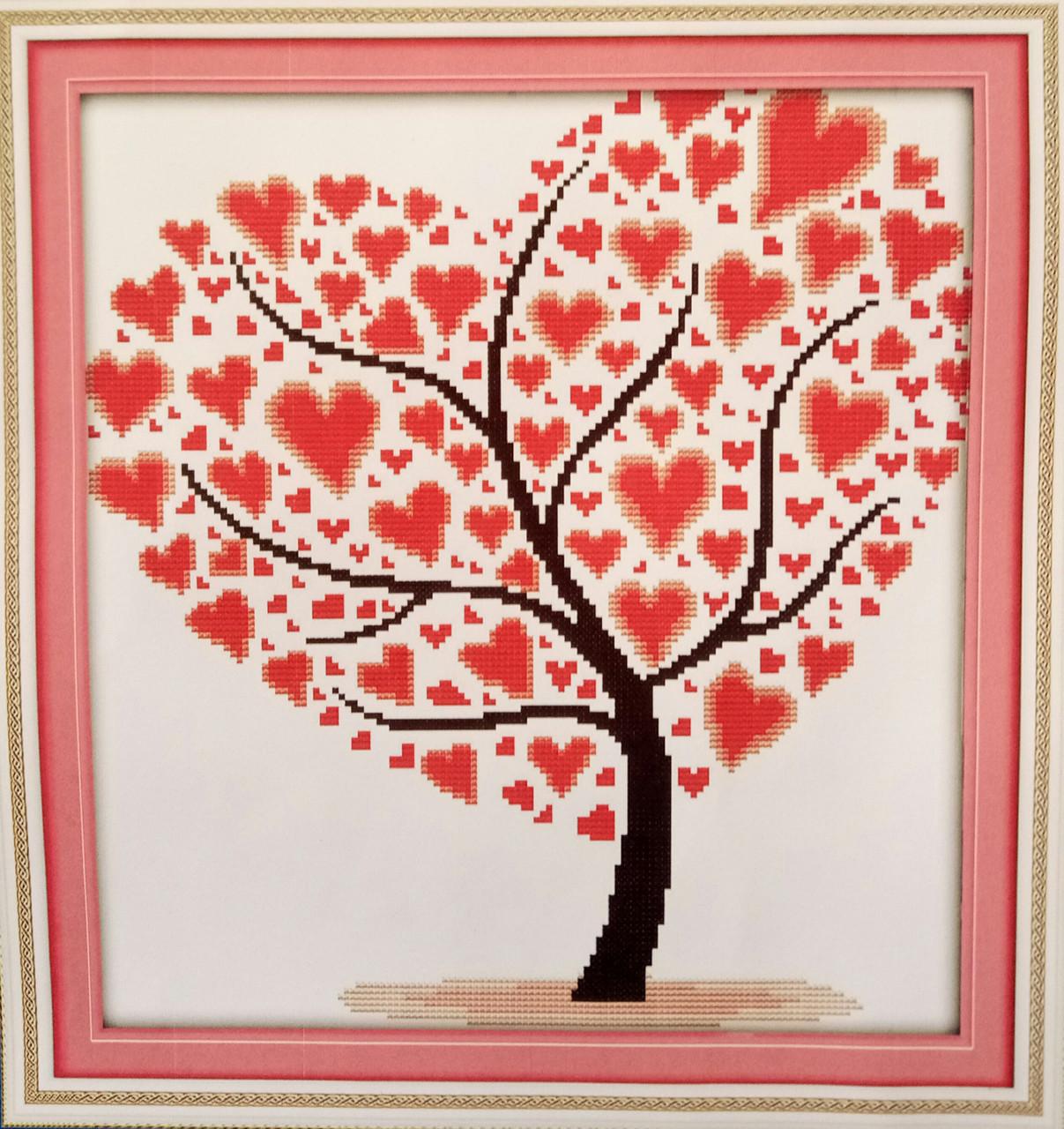 Дерево любви J307/3 Набор для вышивки крестом с печатью на ткани 14ст