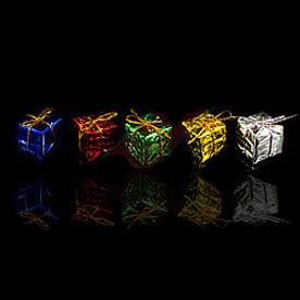 Игрушки елочные кубики, маленькие, 12 шт.