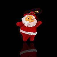Игрушки елочные красные Дед мороз, маленькие, 6 шт.