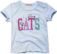 Футболка для девочки Cats, Fox, белая (74-80)