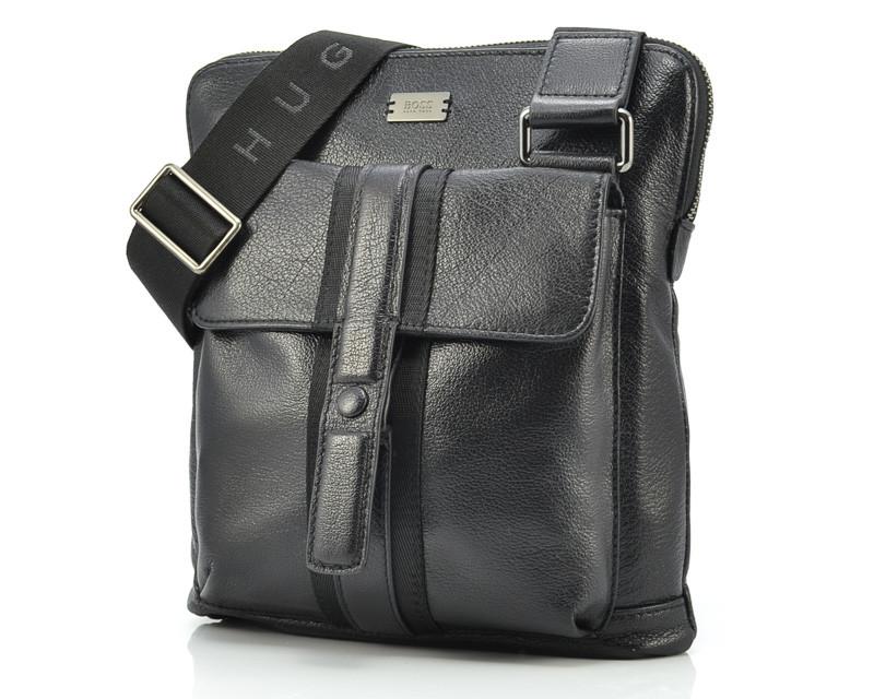 Кожаная мужская сумка Hugo Boss 1990-1