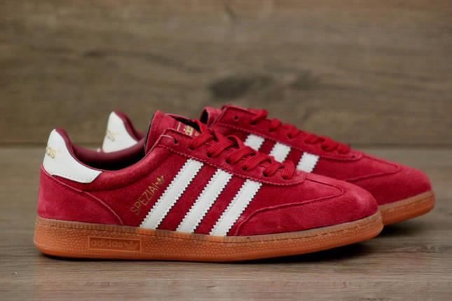 Мужские кроссовки Adidas Spezial  (Адидас Специал/Спешл) Red, фото 2