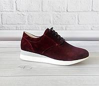 Замшевые кроссовки на платформе. Фабричная обувь., фото 1