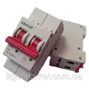 Выключатель автоматический (автомат) 2*25 АВаТар, фото 2