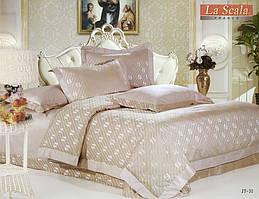 Комплект постельного белья шелковый жаккард La scala JT-31