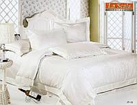 Комплект постельного белья шелковый жаккард La scala JT-32