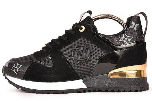 Женские кроссовки Louis Vuitton (Луи Витон) черные представлен в ... b006057366d