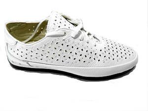Туфлі * Polin 244 білий перфорація