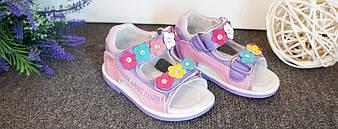 Детские босоножки для девочек,розовые