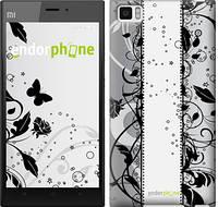 """Чехол на Xiaomi Mi3 Цветочный узор 3 """"1582u-170-817"""""""