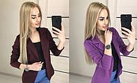 Женский стильный пиджак с воротником