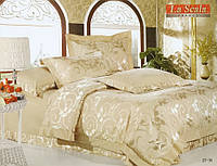 Комплект постельного белья шелковый жаккард La scala JT-36