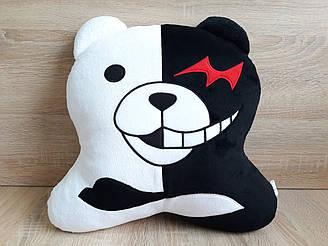 Мягкая игрушка-подушка медведь Монокума Monokuma