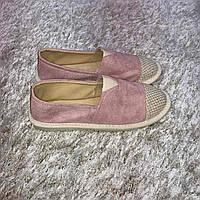 Эспадрильи женские брендовые  на платформе розовые