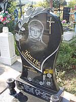 1.14 Памятник гранитный одинарный детский в форме сердца