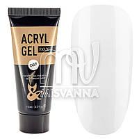 Акрил гель Acryl Gel F.O.X №007 белый, 15 мл