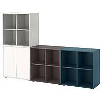 IKEA EKET Сочетание настенных шкафов, разноцветные 1  (791.909.26), фото 1