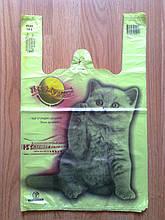 """Пакеты майка """"Котик"""" 30*47 см. полиэтиленовые упаковочные, полиэтиленовый пакет с печатью купить"""