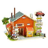 Деревянный 3D конструктор Мотель. Америка (F136)
