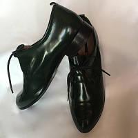 Туфли женские, Италия Vitto Rossi, натуральная лакированная кожа, зеленые размер 39/40, фото 1