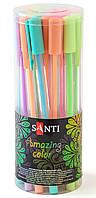 Гелевая ручка Santi Amazing color, 1 шт. 5 цветов в упаковке Цена за 1 ручку