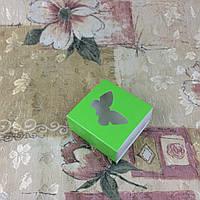 Коробка для пряников / 80х80х35 мм / печать-Салат / окно-Бабочка, фото 1