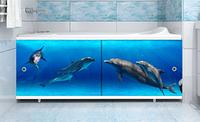 Экран под ванну МЕТАКАМ 150 см Ультра легкий Арт Дельфины