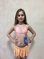 Купальник подростковый раздельный. Rivage Line. 2215 персиковый, фото 1