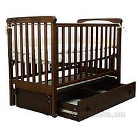 Детская кроватка Соня ЛД-12 полка, маятник 12.2.03 орех