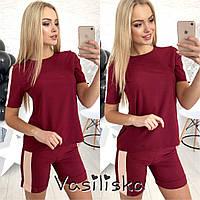 Женский костюм:  шорты и футболка, в расцветках, фото 1