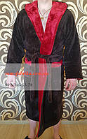 Качественный мужской махровый халат для дома, фото 1