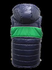 Детская демисезонная куртка-жилетка на мальчика, р.36,38, фото 2