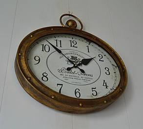 Настенные металлические кварцевые часы London Gold 46*36*6 (3812B), фото 2