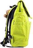 555693 Рюкзак молодежный OX 414, 43.5*31*16, салатовый YES, фото 2