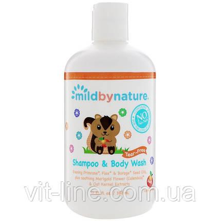 Mild By Nature, Дитячий шампунь без сліз із запахом персика (380 мл), фото 2