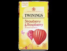 Чай Twinings Infusions Strawberry& Raspberry , 40 г