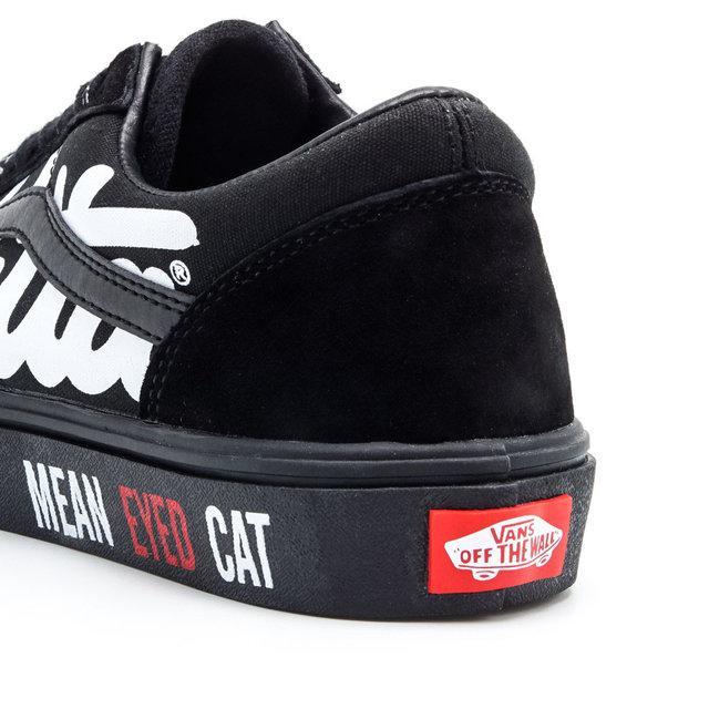 Кеды замшевые Vans Old Skool Mean Cat Eyeв black