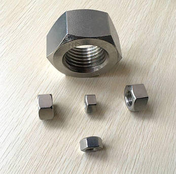 Гайка из нержавейки М6 | DIN 934, ISO 4032| A4, фото 2