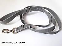 Прорезиненный поводок Серый 25мм