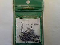 Карабин  рыболовный с вертлюгом(американка) Golden Catch номер  4