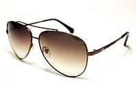 Мужские очки коричневого  цвета Armani