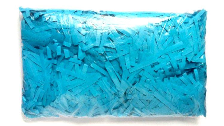 Конфетти тонкие полоски голубые. Вес:250гр.